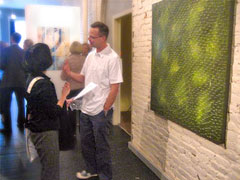 Dave at a gallery showing